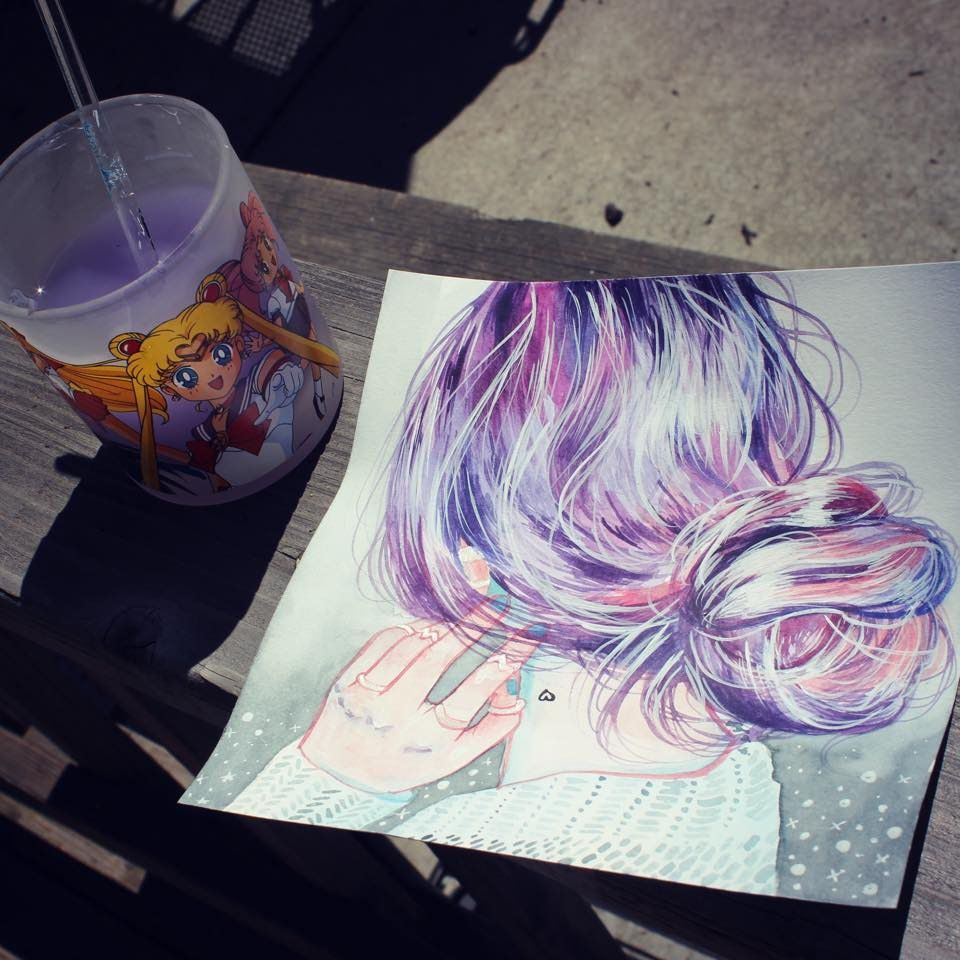 Learn How To Paint Curly Hair In Pastel As Part Of Cath Ingles