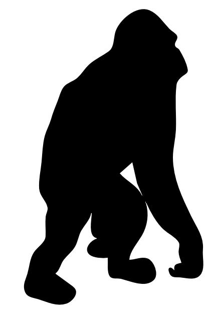 free orangutan clipart 1 page of public domain clip art stencils rh pinterest com orangutan clipart black and white clipart orangutan hanging