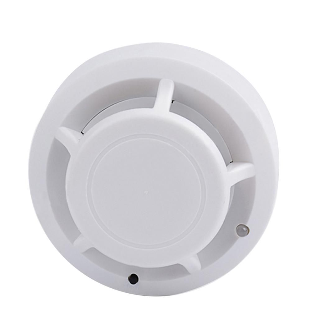 Wireless Smoke Detector High Sensitivity Home Security Fire Alarm System Tester - White