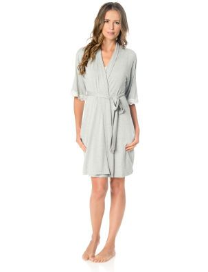 1a799190c9 A Pea in the Pod 2 Piece Clip Down Nursing Nightgown And Robe ...