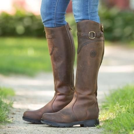 Brown Mountain Horse Snowy River Lace Womens Riding Boot
