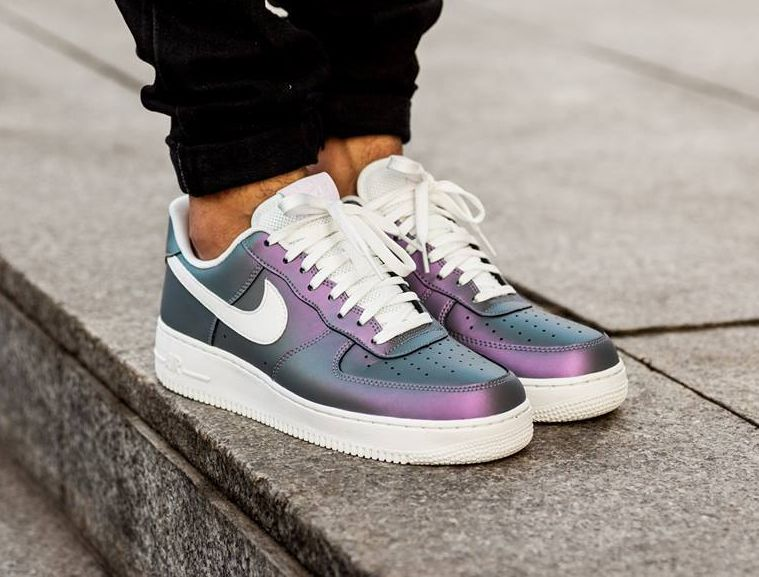 Step Up Your Street Style With the Color-Changing Iridescent Nike Air Force  1s | Nike air force, Iridescent and Air force