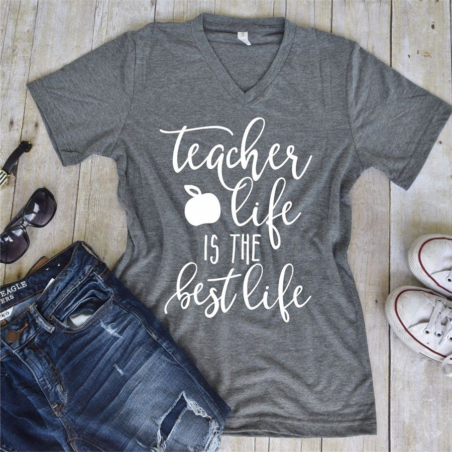 47927a7d92 Teacher Life Statement Tees | TEACHER | Dog mom shirt, Plus size t ...