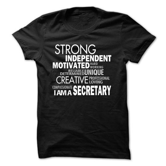 Strong Secretary T Shirts, Hoodies, Sweatshirts. CHECK PRICE ==► https://www.sunfrog.com/LifeStyle/Strong-Secretary.html?41382