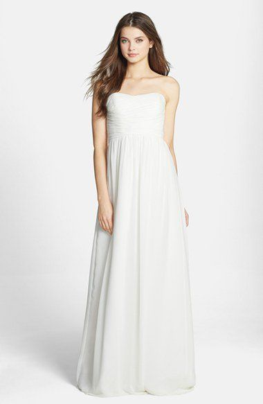Donna Morgan 'Stephanie' Strapless Ruched Chiffon Gown | Nordstrom