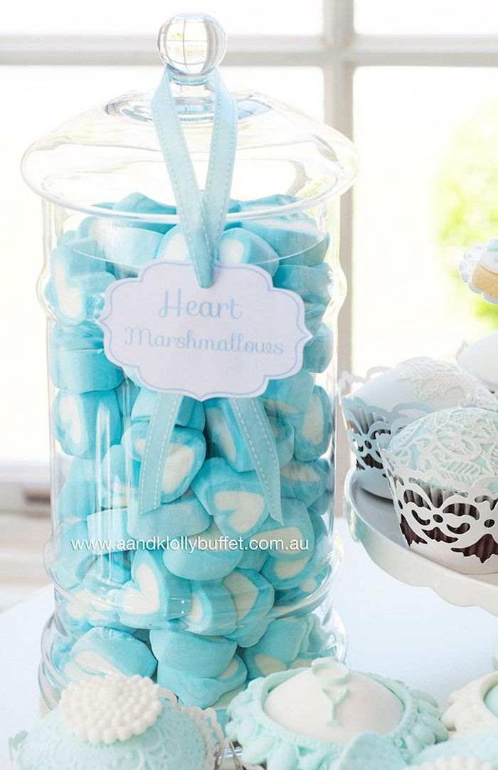 Heart Marshmallows From A Little Prince Baby Shower Via Karau0027s Party Ideas  | KarasPartyIdeas.com