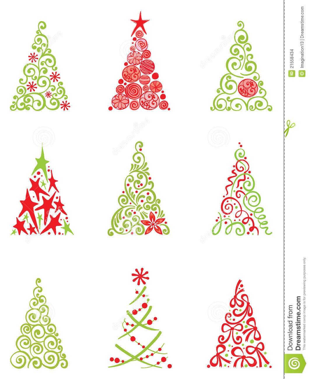 Set Of Modern Christmas Trees - Download From Over 51 Million High ...