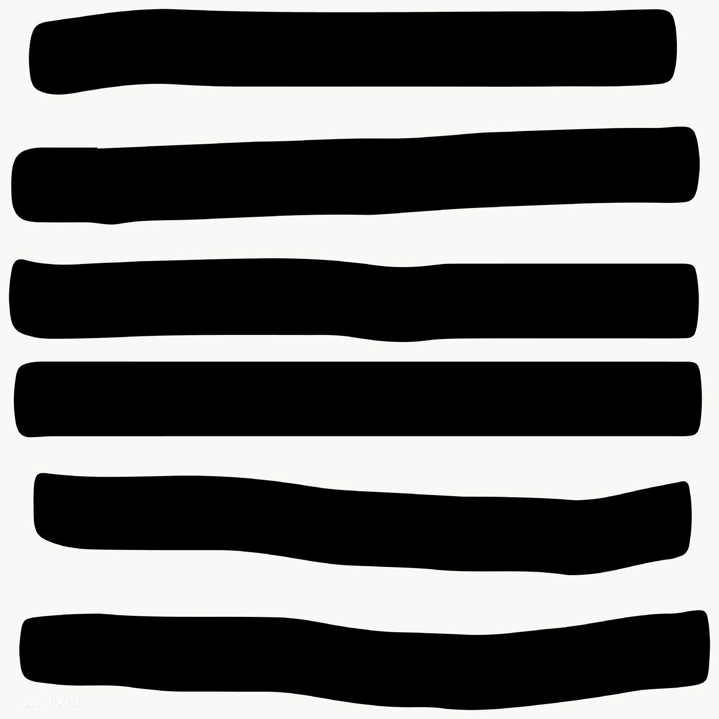 Black And White Single Line Stroke Transparent Png Free Image By Rawpixel Com Katie