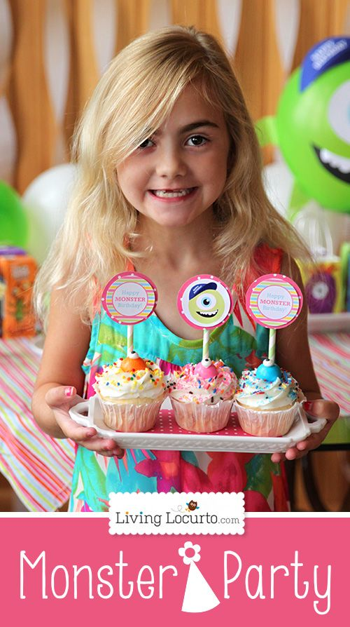 I am loving this idea for kids! Monsters University Birthday Party Ideas with Free Party Printables for Boys and Girls @Amy Locurto {LivingLocurto.com}