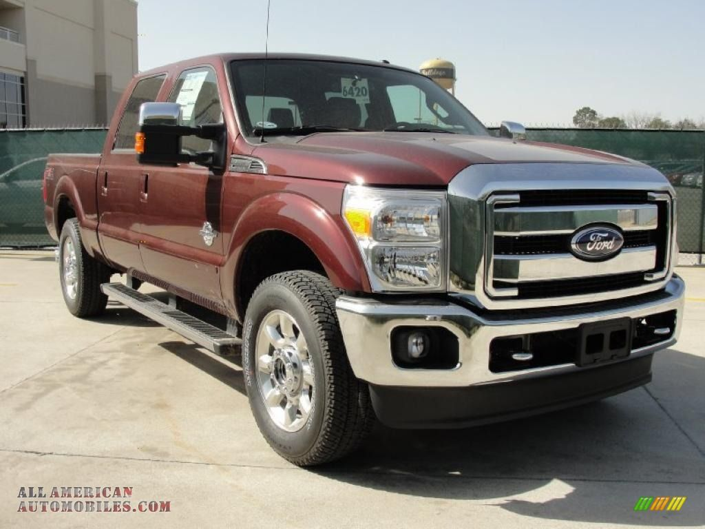 Burgundy shade of red ford f 250 truck the ford super