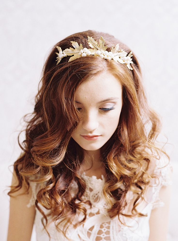 Maple leaf crown, wedding tiara, bridal headpiece, goddess crown, tiara