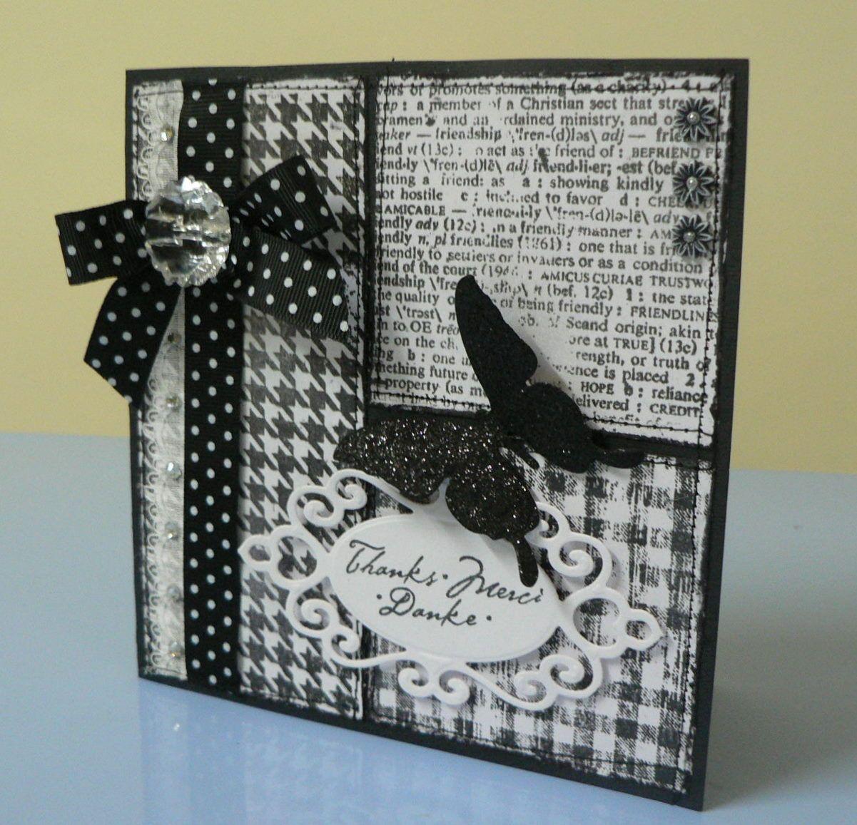 Открытки своими руками черно-белые, картинка для открытки