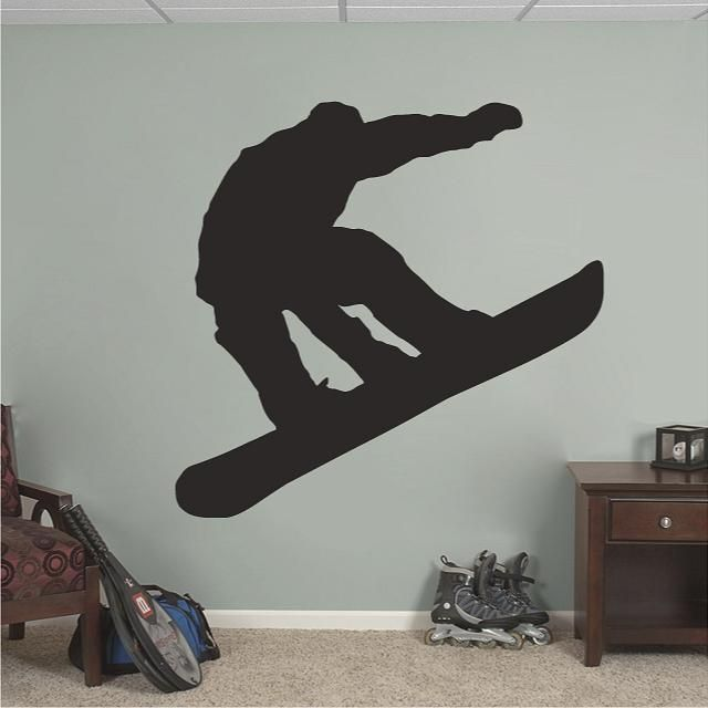 Snowboarder Sports Wall Decals, Stickers