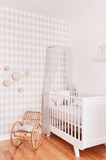 Farmhouse Nursery by Marion Alberge Décoration:Room of the Day: A White Cocoon for Baby