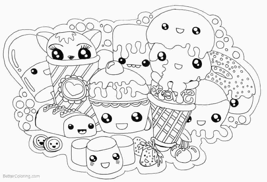 Adorable Kawaii Food Coloring Pages Coloring Books Disney
