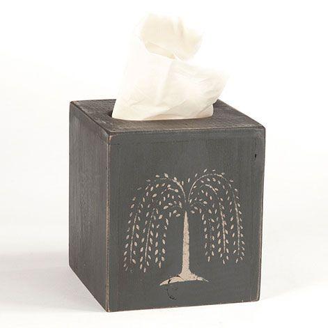 Decorative Tissue Box Holder Black Willow Tree Decorative Tissue Box Cover  New House Decor
