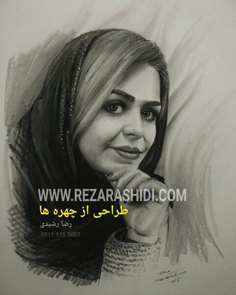 نقاشی دخترانه با مداد سیاه ساده