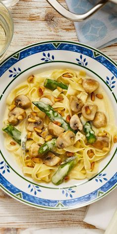 Photo of Tagliatelle with asparagus and cheese sauce