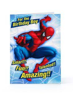 Spider-Man Birthday Card Sayings   ://www.imagesbuddy.com/for-the-birthday -boy-spiderman-greeting-card .