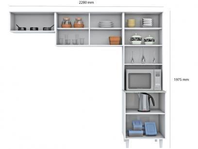 Cozinha Compacta Madine Moveis Lorena 5 Portas Com As Melhores