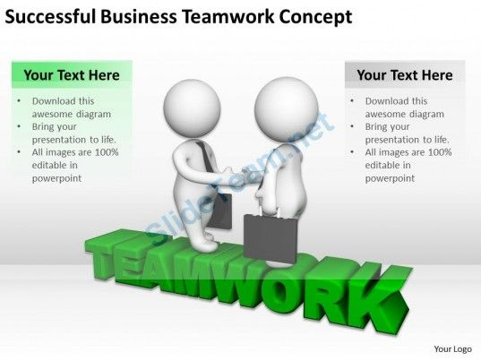 Successful Business Teamwork Concept Ppt Graphics Icons Powerpoint ...