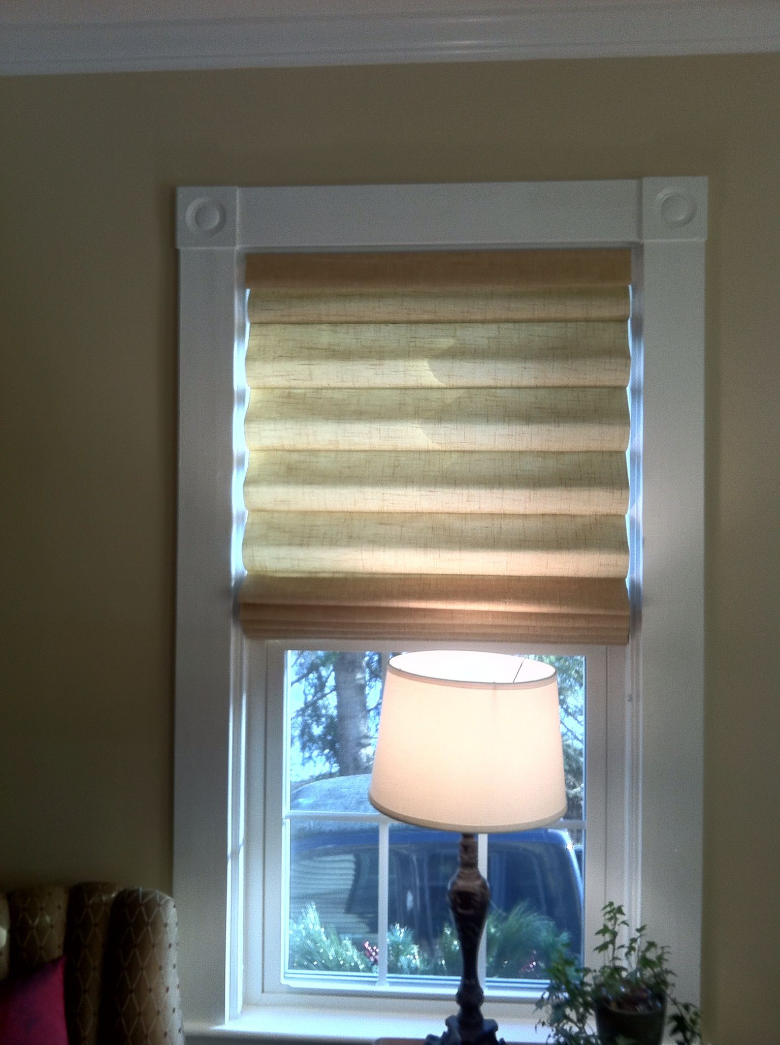 Wheat Colored Linen Roman Shades From Blinds To Go Linen