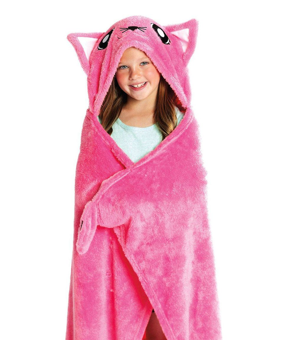 Snuggie Pink Kitten Kid S Blanket Kids Blankets Eye Blanket Snuggie