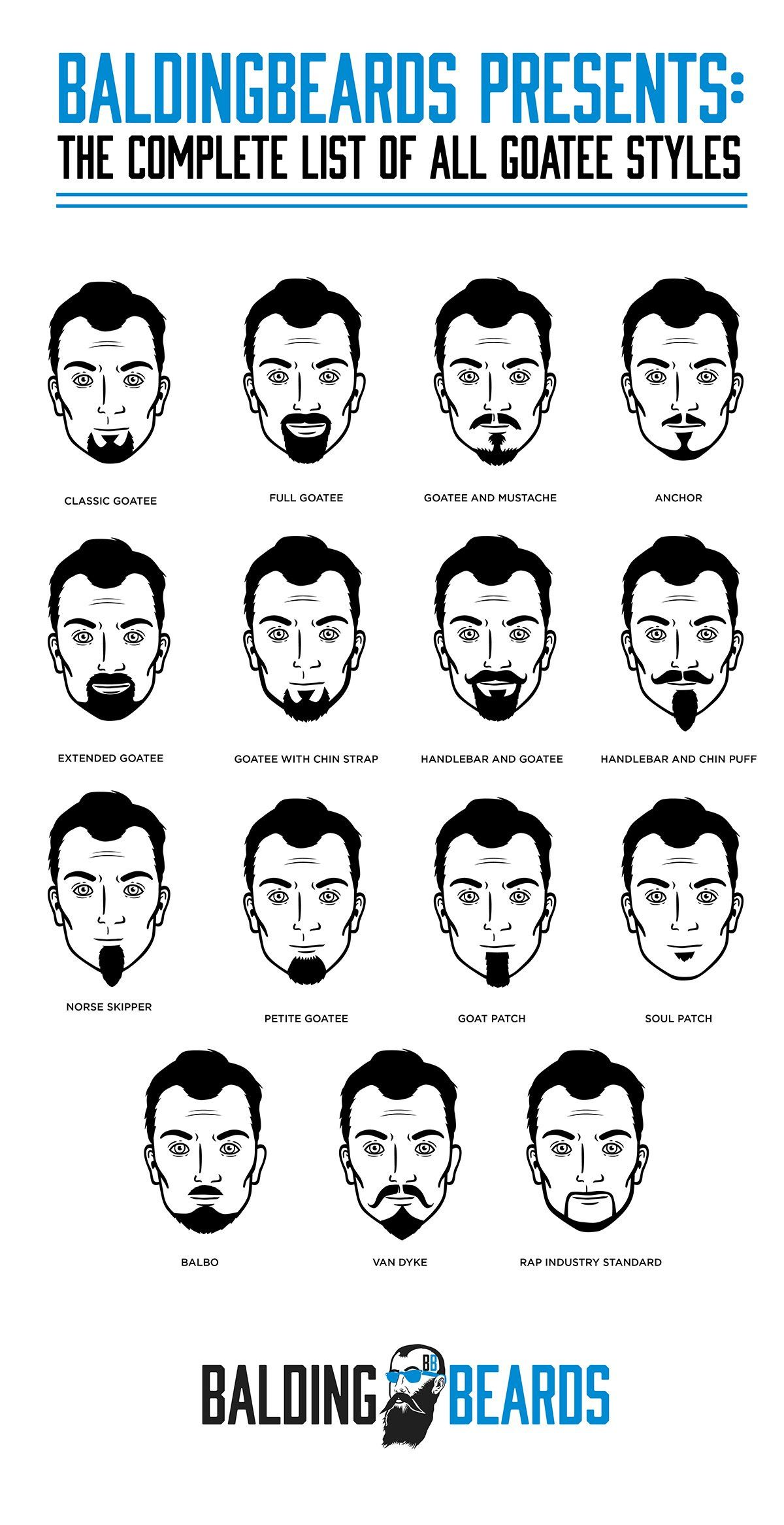 how to shape a mustache and goatee