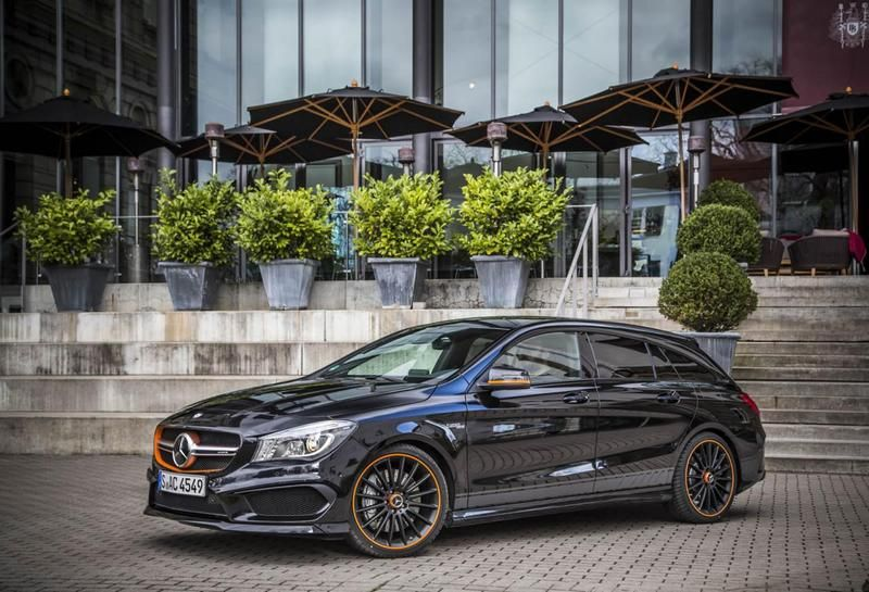 Dad Wagon Cla45 Amg Shooting Brake Orangeart Edition