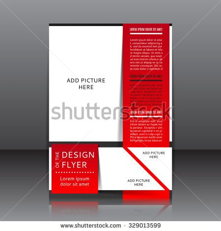 Red Flyer Template Design Of The Red Flyer Vector Illustration Whit