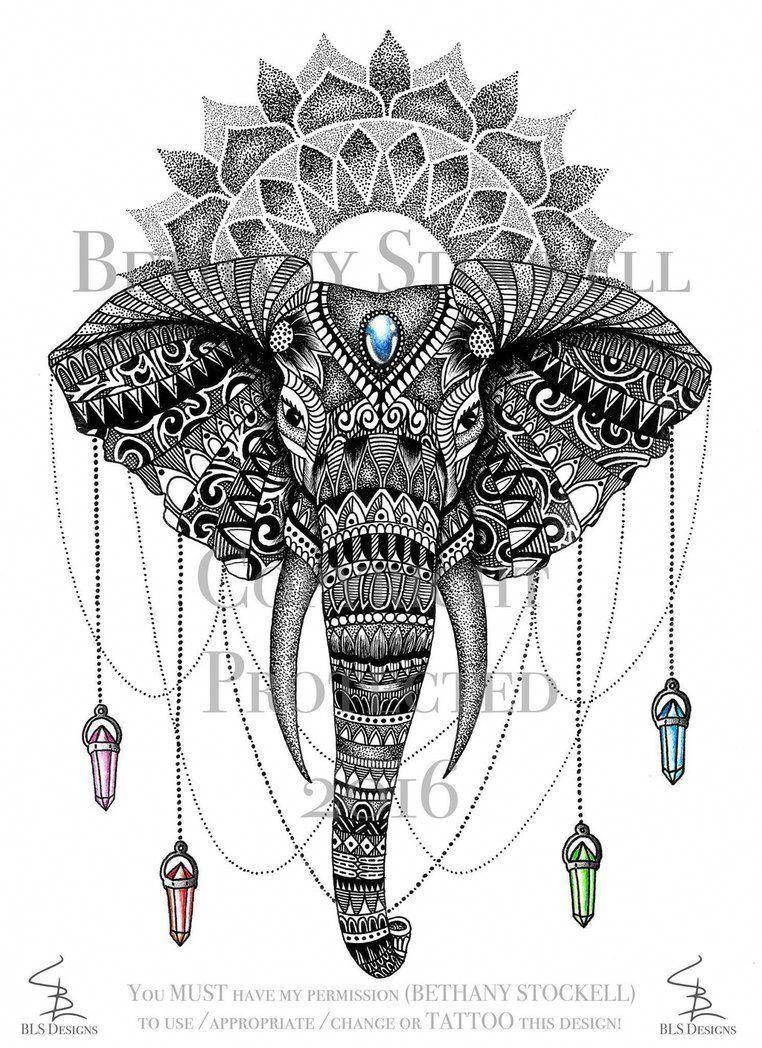 design tattoo mandalatattoo  tattoo elefanten mandala