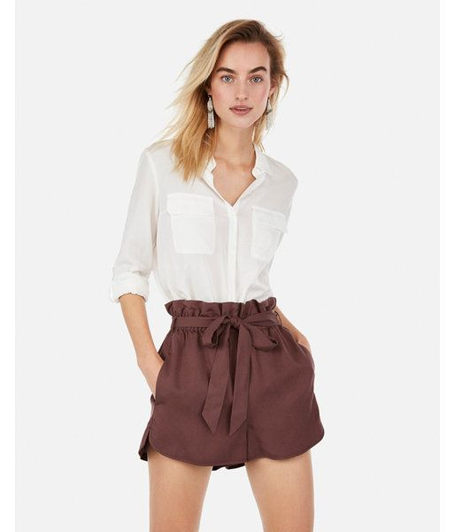 72072c806c0474 Express High Waisted Sash Tie Utility Shorts in 2019 | Products ...