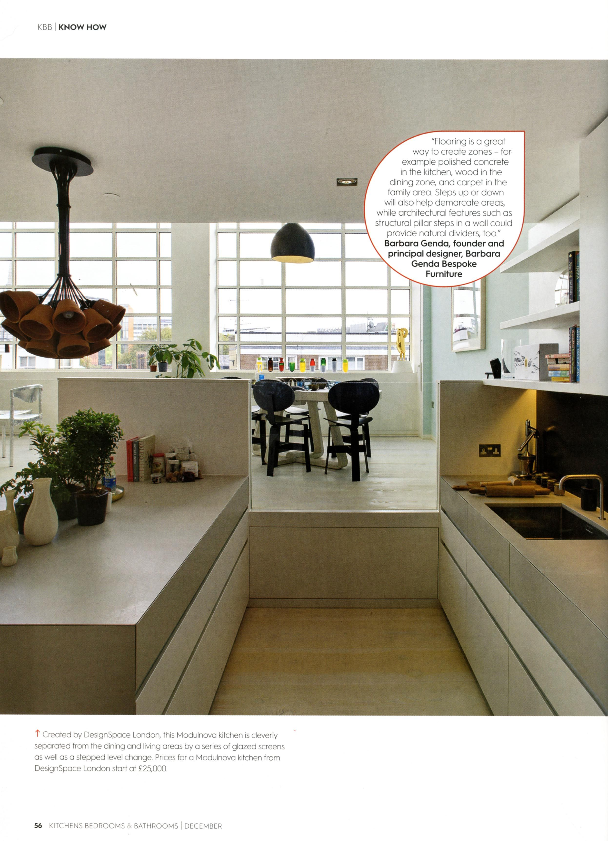 This sleek kitchen is from DesignSpace London. KBB