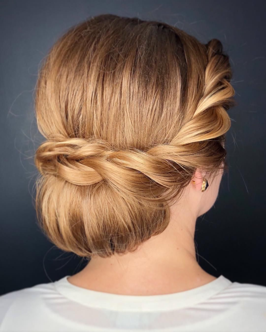 Wedding Hairstyle Near Me: Add A Textured Braid Or Two To Your Chignon Updo For A