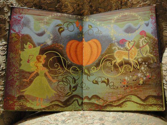 1974 Walt Disney's Cinderella Big Golden Book by SodaFountainParty, $10.00