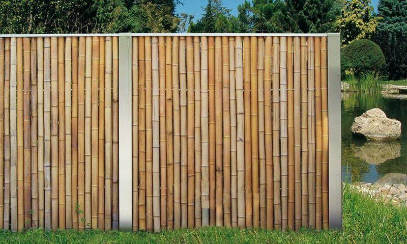 Sichtschutz mit dekorativem Bambuszaun 50 originelle