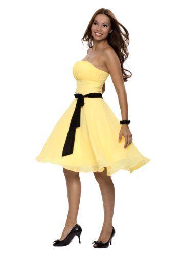 Festliche kleider lang gelb