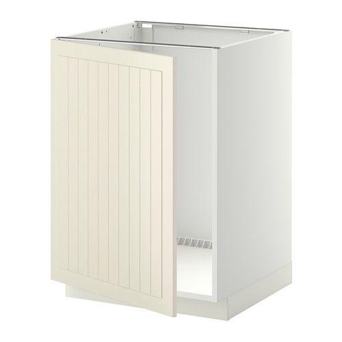 Best Metod Base Cabinet For Sink White Veddinge White In 640 x 480