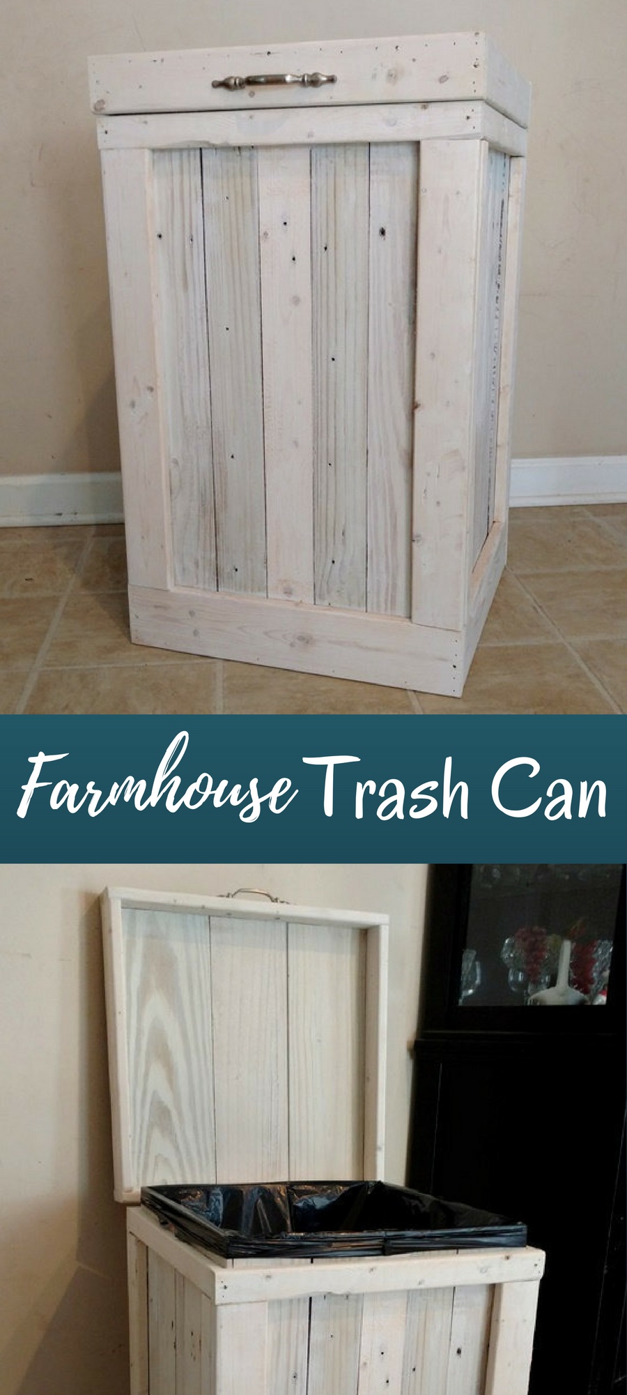 I Ve Been Looking For A Trash Can That Had A Farmhouse Style Look This Is Perfect Ad Home Decor Sale Home Diy Diy Apartments