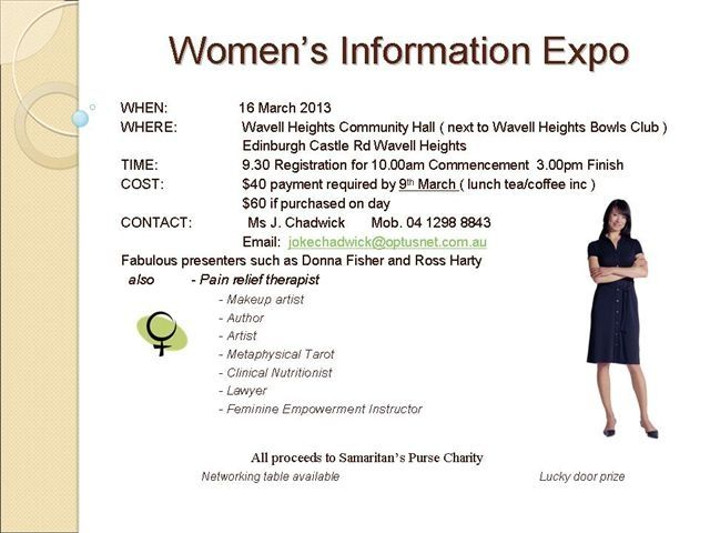 Women's Information Expo Saturday 16 March 2013