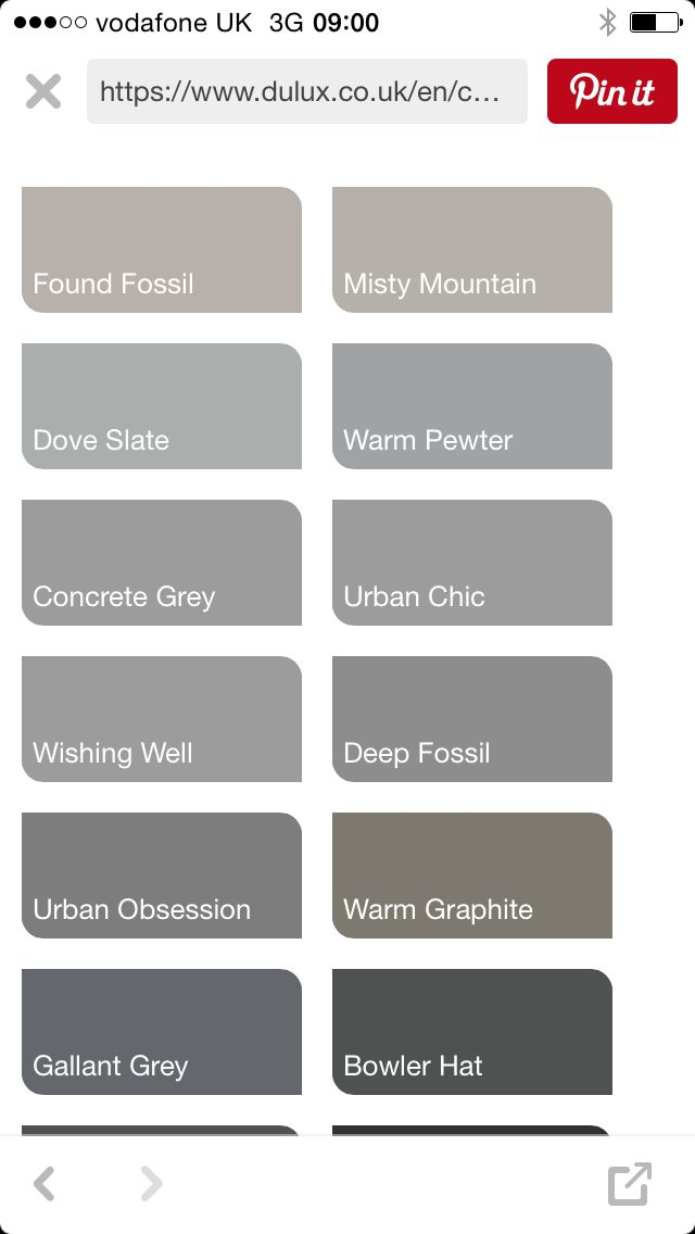 Dulux Grey Colour Chart
