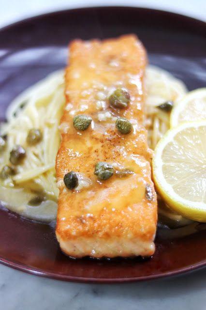Restaurant-Worthy Quick Salmon Piccata Recipe #salmonrecipes