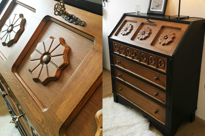 Kolonialstil Sekretär Restaurieren Alt Mach Neu Möbel Möbel