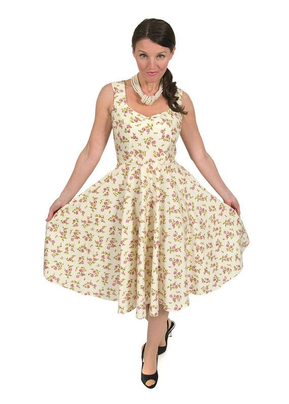 Eliza M Vintage Fifties Circle Swing Dress Sewing Pattern Size 10