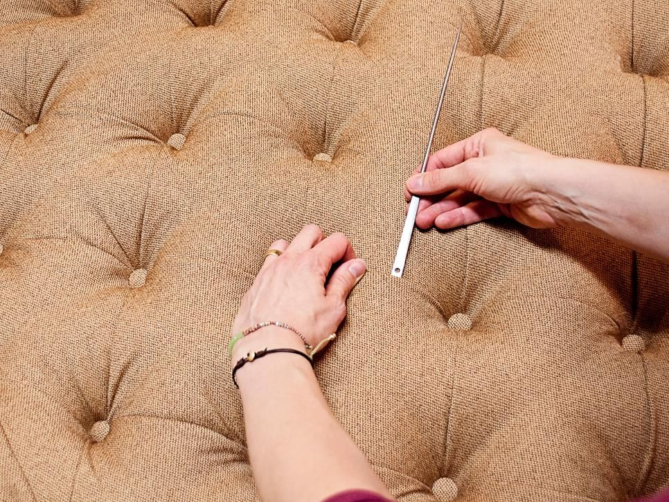 Feel like royalty with this beautiful upholstered ...