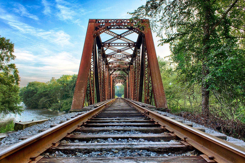 Blue ridge ga landscape photography old iron bridge at