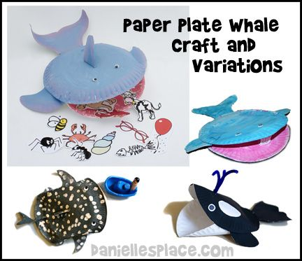 Jonah In Whale Blue Dish Soap Craft From Paper Plate