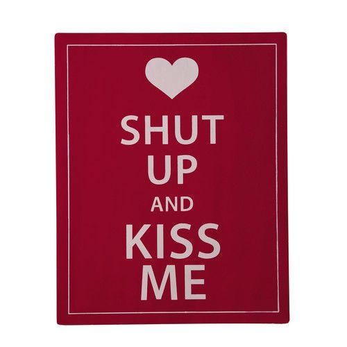 Metalen decoratieplaat Kiss, groot model