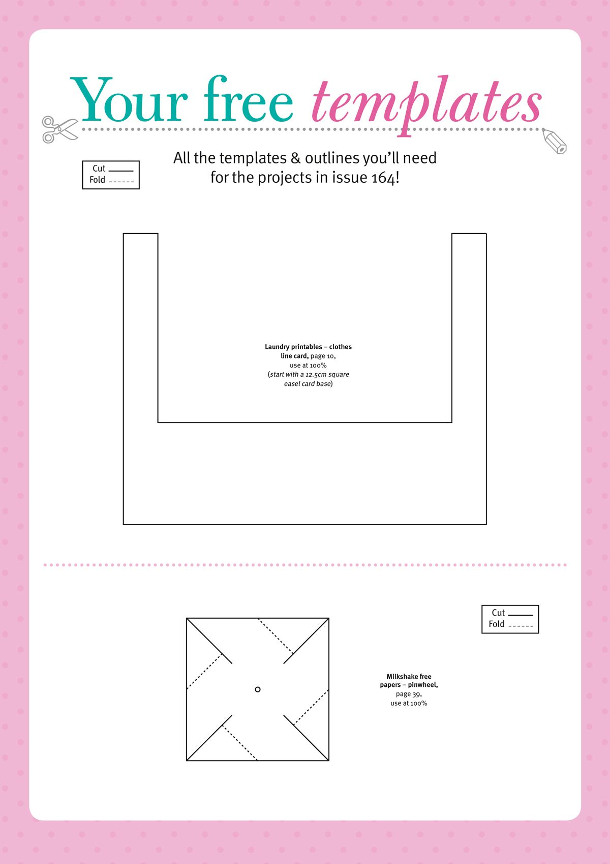 Free templates from Papercraft Inspirations magazine 164 | Digital