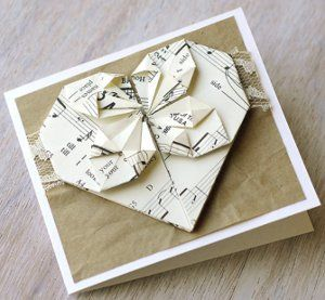 Adorable Origami Heart Card